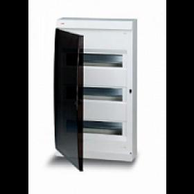 122660006 Бокс навесной 3*12 модулей(Unibox) с дымчатой дверью IP41 с клеммным блоком