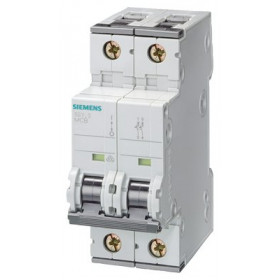 5SY62017 Автоматический выключатель, 2Р, 1А, хар. С, 6кА