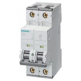 5SY62057 Автоматический выключатель, 2Р, 0.5А, хар. С, 6кА