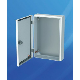 MES 40.40.21 Шкаф металлический с монтажной платой, IP56, габариты 400х400х210мм