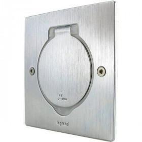 89700 Лючок металлический 1 модуль 45*45 мм IP44, Нержавеющая сталь