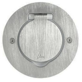 89701 Лючок металлический круглый 1 модуль 45*45 мм IP44 круглый, Нержавеющая сталь