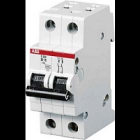 "2CDS252001R0164 Автоматический выключатель 2-полюса 16А хар. ""С""  6кА (ABB S202-C 16)"