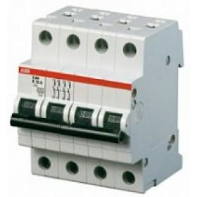 "2CDS254001R0134 Автоматический выключатель 4-полюса 13А хар. ""С""  6кА (ABB S204-C 13)"