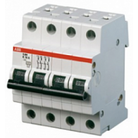 "2CDS254001R0164 Автоматический выключатель 4-полюса 16А хар. ""С""  6кА (ABB S204-C 16)"