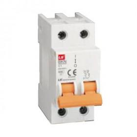 "061205188B Автоматический выключатель 1+N-полюс, 2А, хар.""С"" 6кА (LS серия BKN 1Р+N С2А)"