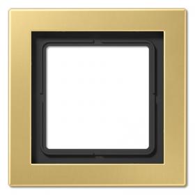 Рамка 1-ая Jung LS Design Латунь Classic MED2981C IP20