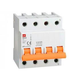"""061403338B Автоматический выключатель 4-полюса, 10А, хар.""""С"""" 6кА (LS серия BKN 4Р С10А)"""