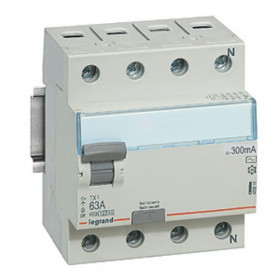 "403010 Выключатель диф.тока(УЗО) 4-полюса 63А 30мА тип ""AC"" (Legrand TX3)"
