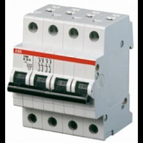 "2CDS244001R0064 Автоматический выключатель 4-полюса 6А хар. ""С""  4,5кА (ABB SH204L)"