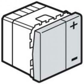 76204 Mosaic Светорегулятор 400Вт 2-х проводный для всех нагрузок, АЛЮМИНИЙ