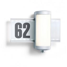 003746 L 625 LED Светильник светодиодный 9Вт с датчиком движения угол 360гр с номером дома, АЛЮМИНИЙ