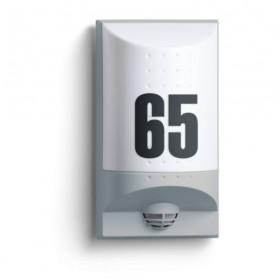 004095 L 650 LED Cветильник светодиодный 8Вт с датчиком движения угол 180гр с номером дома, СЕРЫЙ