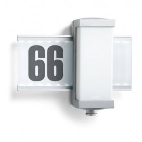 003760 L 665 LED Светильник светодиодный 9Вт с датчиком движения угол 360гр с номером дома, АЛЮМИНИЙ