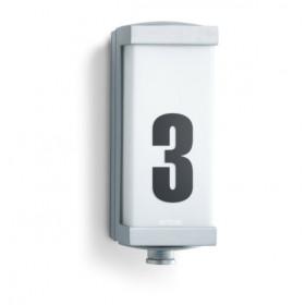 003777 L 666 LED Светильник светодиодный 8Вт с датчиком движения угол 360гр номером дома, АЛЮМИНИЙ