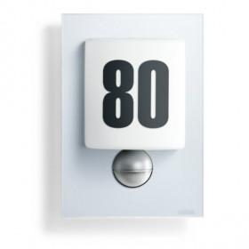 003838 L 680 LED Светильник светодиодный 8Вт с датчиком движения угол 140гр с номером дома, СЕРЕБРО