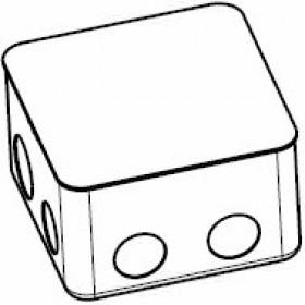 54001 Коробка монтажная для заливки в пол на 2 модуля, Сталь