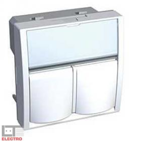 """ALB45383 Адаптер двойной для информационных розеток типа """"AVAYA"""" Altira Schneider Electric, белый"""