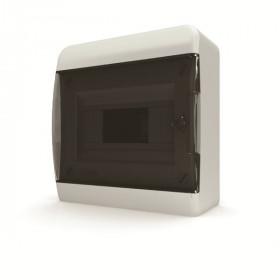 01-01-001 Щит навесной 8 мод. IP40, прозрачная черная дверца BNK 40-08-1 (Tekfor серия B)