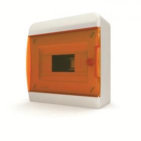 01-01-003 Щит навесной 8 мод. IP40, прозрачная оранжевая дверца BNO 40-08-1 (Tekfor серия B)