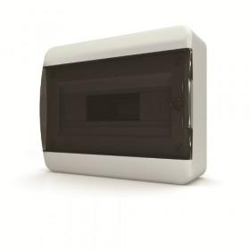 01-01-021 Щит навесной 12 мод. IP40, прозрачная черная дверца BNK 40-12-1 (Tekfor серия B)