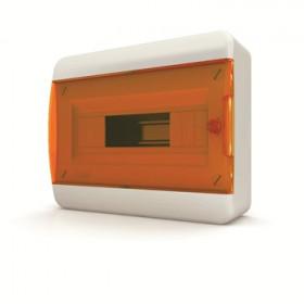 01-01-023 Щит навесной 12 мод. IP40, прозрачная оранжевая дверца BNO 40-12-1 (Tekfor серия B)