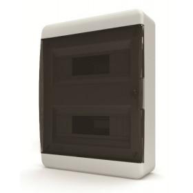01-01-041 Щит навесной 24 мод. IP40, прозрачная черная дверца BNK 40-24-1 (Tekfor серия B)