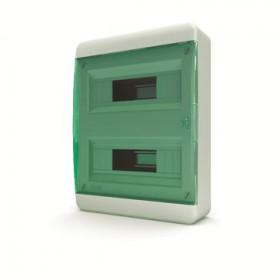 01-01-042 Щит навесной 24 мод. IP40, прозрачная зеленая дверца BNZ 40-24-1 (Tekfor серия B)