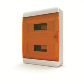 01-01-043 Щит навесной 24 мод. IP40, прозрачная оранжевая дверца BNO 40-24-1 (Tekfor серия B)