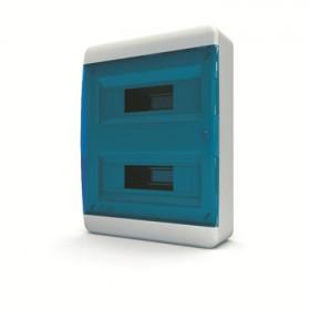 01-01-044 Щит навесной 24 мод. IP40, прозрачная синяя дверца BNS 40-24-1 (Tekfor серия B)