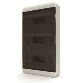 01-01-061 Щит навесной 36 мод. IP40, прозрачная черная дверца BNK 40-36-1 (Tekfor серия B)