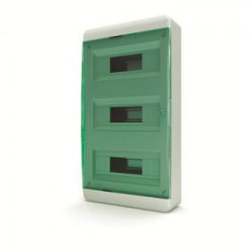 01-01-062 Щит навесной 36 мод. IP40, прозрачная зеленая дверца BNZ 40-36-1 (Tekfor серия B)