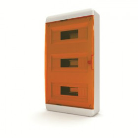 01-01-063 Щит навесной 36 мод. IP40, прозрачная оранжевая дверца BNO 40-36-1 (Tekfor серия B)