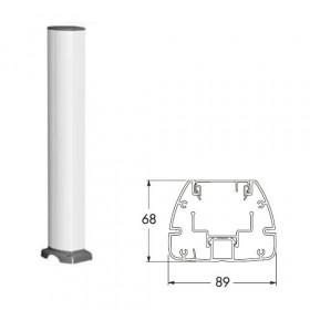 ISM20206 Мини-колонна 1-сторонняя 0,70 м на 12 мех-мов 45*45мм с отверстием(OptiLine 45), Белая