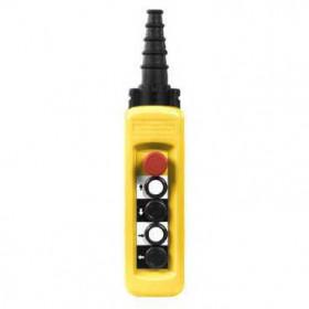 XACA4814 Пульт управления подвесной для 1 скоростного двигателя 4 кнопки 1НО+1НЗ+аварийная  IP65