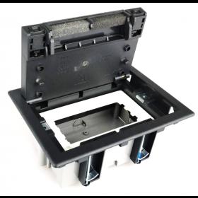 SF170-14 Лючок Simon для бетонных полов на 2 механизма черный