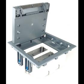 SF210-1 Лючок simon для фальш-полов на 4 механизма серый