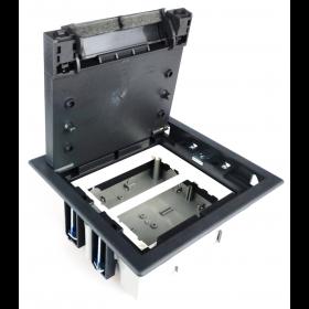 SF270-14 Лючок Simon для бетонных полов на 4 механизма черный