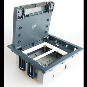 SF270-1 Лючок Simon для бетонных полов на 4 механизма серый