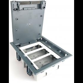 SF370-1 Лючок Simon для бетонных полов на 6 механизмов серый