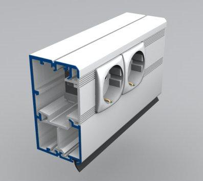 алюминиевый кабель канал alusor 100x50